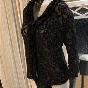 Authentic Chanel brand new Camellia cc allover top